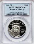 Modern Bullion Coins, 2001-W P$100 One-Ounce Platinum Eagle PR69 Deep Cameo PCGS. PCGSPopulation (935/81). NGC Census: (453/266). Numismedia Ws...