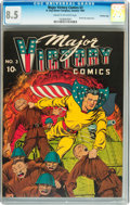 Golden Age (1938-1955):Superhero, Major Victory Comics #3 Crowley Copy (H. Clay Glover Company, 1945) CGC VF+ 8.5 Cream to off-white pages....
