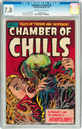 Golden Age (1938-1955):Horror, Chamber of Chills #23 (Harvey, 1954) CGC FN/VF 7.0 Cream tooff-white pages....
