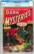 Golden Age (1938-1955):Horror, Dark Mysteries #14 (Master Publications, 1953) CGC FN+ 6.5Off-white to white pages....