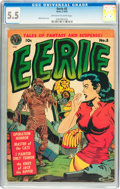 Golden Age (1938-1955):Horror, Eerie #5 (Avon, 1952) CGC FN- 5.5 Off-white to white pages....
