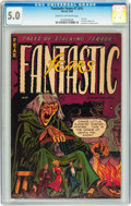 Golden Age (1938-1955):Horror, Fantastic Fears #7 (#1) (Farrell, 1953) CGC VG/FN 5.0 Cream tooff-white pages....