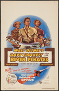 "Movie Posters:Adventure, Davy Crockett and the River Pirates (Buena Vista, 1956). WindowCard (14"" X 22""). Adventure.. ..."