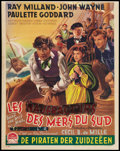 "Movie Posters:Adventure, Reap the Wild Wind (Paramount, late 1940s). Post War Belgian (14"" X18""). Adventure.. ..."