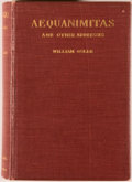Books:Medicine, [Medicine]. William Osler. Aequanimitas. With otherAddresses to Medical Students, Nurses and Practitioners ofMed...