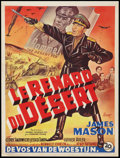 "Movie Posters:War, The Desert Fox (20th Century Fox, 1951). Belgian (14.25"" X 18.75"").War.. ..."