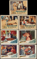 "Movie Posters:Adventure, Outpost in Morocco & Other Lot (United Artists, 1949). LobbyCards (7) (11"" X 14""). Adventure.. ... (Total: 7 Items)"