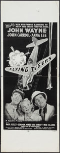 "Movie Posters:War, Flying Tigers (Republic, R-1954). Insert (14"" X 36""). War.. ..."