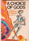 Books:Science Fiction & Fantasy, [Jerry Weist]. Clifford D. Simak. A Choice of Gods. New York: Putnam, [1972]. First edition, first printing. Octavo....