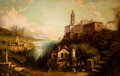 Paintings, JOHN BELL (British, 1811-1895). Lago Maggiore, 1880. Oil on canvas. 35-1/2 x 55 inches (90.2 x 139.7 cm). Signed and dat...
