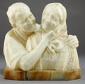 Paintings, A FERDINANDO VICHI (ITALIAN, 1875-1945) MARBLE SCULPTURE: ELDERLY COUPLE . Circa 1900. Marks: F. VICHI, FIRENZE,...