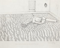 WILLIAM T. WILEY (American, b. 1937) Cheap Mystery, 1965 Print on paper 13-3/4 x 17 inches (34.9