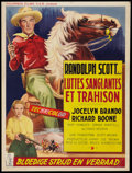 "Movie Posters:Action, Ten Wanted Men (Columbia, 1955). Belgian (13.75"" X 18.25"").Action.. ..."