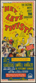 "Movie Posters:Rock and Roll, Hey, Let's Twist (Paramount, 1962). Australian Daybill (13"" X 30"").Rock and Roll.. ..."
