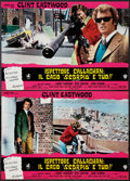 "Movie Posters:Crime, Dirty Harry (Warner Brothers, 1971). Italian Photobustas (9)(17.75"" X 25.5""). Crime.. ... (Total: 9 Items)"