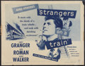 """Movie Posters:Hitchcock, Strangers on a Train (Warner Brothers, R-1957). Half Sheet (22"""" X 28""""). Hitchcock.. ..."""