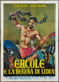 "Movie Posters:Action, Hercules Unchained (Warner Brothers, 1959). Italian 4 - Foglio (55""X 78""). Action.. ..."