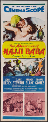 "The Adventures of Hajji Baba (20th Century Fox, 1954). Insert (14"" X 36""). Adventure"