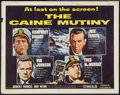 """Movie Posters:War, The Caine Mutiny (Columbia, 1954). Half Sheet (22"""" X 28"""") Style A.War.. ..."""
