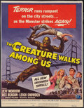 "Movie Posters:Horror, The Creature Walks Among Us (Universal International, 1956). WindowCard (12.75"" X 16.5""). Horror.. ..."