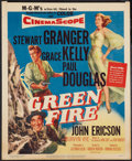 """Movie Posters:Adventure, Green Fire (MGM, 1954). Window Card (14"""" X 17.25""""). Adventure.. ..."""