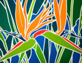 Fine Art - Painting, American:Contemporary   (1950 to present)  , ANN BRUCE STODDARD (American, 20th Century). Birds of Paradise. Acrylic on canvas . 55-1/2 x 71-1/2 inches (141.0 x 181....