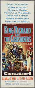 "Movie Posters:Adventure, King Richard and the Crusaders (Warner Brothers, 1954). Insert (14""X 36""). Adventure.. ..."