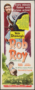 "Movie Posters:Adventure, Rob Roy, the Highland Rogue (RKO, 1954). Insert (14"" X 36"").Adventure.. ..."