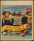 "Movie Posters:Western, She Wore a Yellow Ribbon (RKO, 1949). Window Card (14"" X 16.75""). Western.. ..."