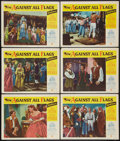 "Movie Posters:Swashbuckler, Against All Flags (Universal International, 1952). Lobby Cards (6) (11"" X 14""). Swashbuckler.. ... (Total: 6 Items)"
