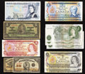 Canadian Currency: , Canadian and British Notes.. ... (Total: 12 notes)