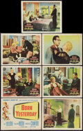 """Movie Posters:Comedy, Born Yesterday (Columbia, 1950). Title Lobby Card and Lobby Cards (6) (11"""" X 14""""). Comedy.. ... (Total: 7 Items)"""