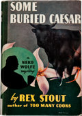 "Books:Mystery & Detective Fiction, Rex Stout. Some Buried Caesar. New York: Triangle Books,[1941]. Later edition. Inscribed by Stout, ""For / Jac..."