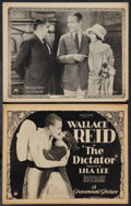"Movie Posters:Adventure, The Dictator (Paramount, 1922). Title Lobby Card and Lobby Card(11"" X 14""). Adventure.. ... (Total: 2 Items)"
