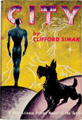 Books:Science Fiction & Fantasy, Clifford D. Simak. City. [New York]: Gnome Press, [1952]. First edition. Octavo. 224 pages. Publisher's light gr...