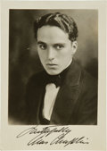 Movie/TV Memorabilia:Autographs and Signed Items, A Charles Chaplin Early Signed Black and White Photograph, Circa1920s....
