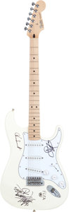 Music Memorabilia:Autographs and Signed Items, Red Hot Chili Peppers Autographed Fender Guitar....