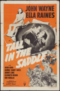 "Movie Posters:Western, Tall in the Saddle (RKO, R-1957). One Sheet (27"" X 41""). Western.. ..."