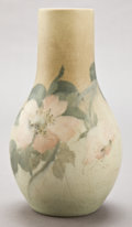 Ceramics & Porcelain, American:Modern  (1900 1949)  , A ROOKWOOD VELUM ART POTTERY VASE DECORATED BY EDWARD GEORGE DIERS. 1907. Marks RP, VII, ED, V, 989 V . 10 inches h...