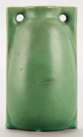 Ceramics & Porcelain, American:Modern  (1900 1949)  , A TECO GREEN GLAZED ART POTTERY VASE . Circa 1910. Marks: (stampeffaced) . 5-1/2 inches high (14.0 cm). ...