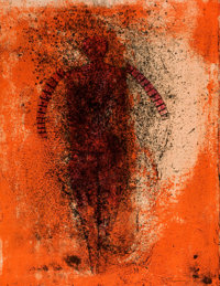 RUFINO TAMAYO (Mexican, 1899-1991) Hombre Obscuro, 1976 Color lithograph 25-1/2 x 19-1/2 inches (