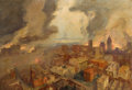 Fine Art - Painting, American:Modern  (1900 1949)  , L.A. SHAFER (American, 1866-1940). 1906 San Francisco Fire,1913. Oil on canvas . 22-1/4 x 32 inches (56.5 x 81.3 cm). S...