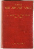 Books:Science Fiction & Fantasy, [Jerry Weist]. H. G. Wells. When the Sleeper Awakes. London and New York: Harper & Brothers, 1899. First edition. Oc...