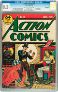 Golden Age (1938-1955):Superhero, Action Comics #14 Billy Wright pedigree (DC, 1939) CGC VF+ 8.5 Off-white to white pages....