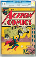 Golden Age (1938-1955):Superhero, Action Comics #33 Billy Wright pedigree (DC, 1941) CGC VF 8.0 White pages....