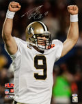 Football Collectibles:Photos, Drew Brees Signed Oversized Photograph. ...