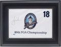"Golf Collectibles:Autographs, Tiger Woods Signed ""2007 PGA Championship"" Upper Deck AuthenticatedFlag...."