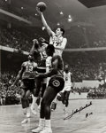 Basketball Collectibles:Photos, John Havlicek Signed Oversized Photograph....