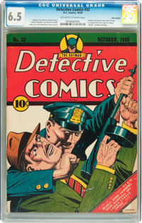 Detective Comics #32 Billy Wright pedigree (DC, 1939) CGC FN+ 6.5 Off-white to white pages