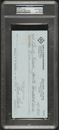 Baseball Collectibles:Others, 1993 Curt Flood Double Signed Check. ...